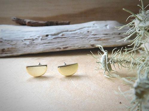 WS Small Gold Half Moon Earrings
