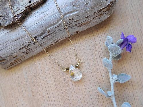 Lemon Citrine teardrop necklace