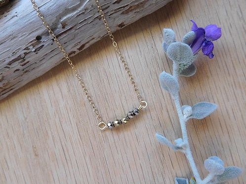 Gold crystals necklace