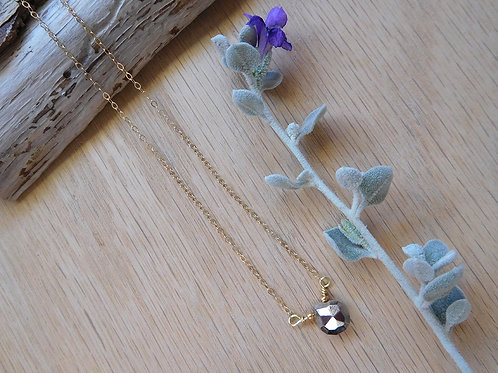wholesale Pyrite Teardrop necklace