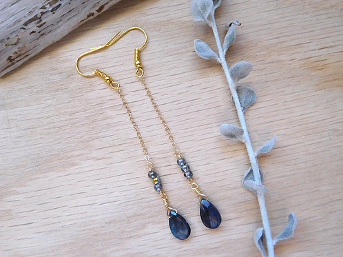 Delicate Labradorite drop earrings