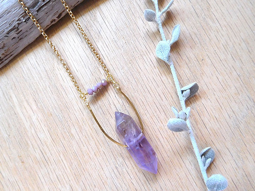 Wholesale Amethyst point necklace