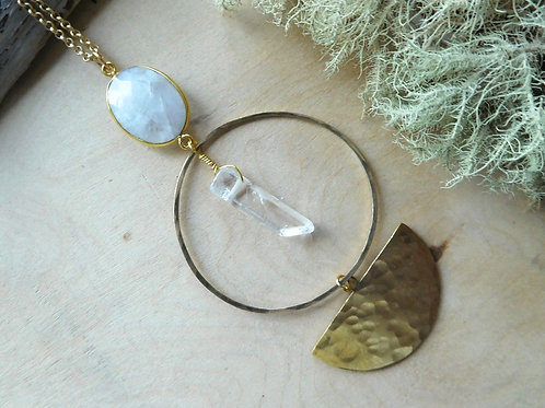 WS Moonstone with Brass Necklace