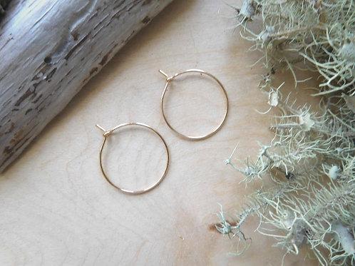 WS Small Gold Hoop Earrings