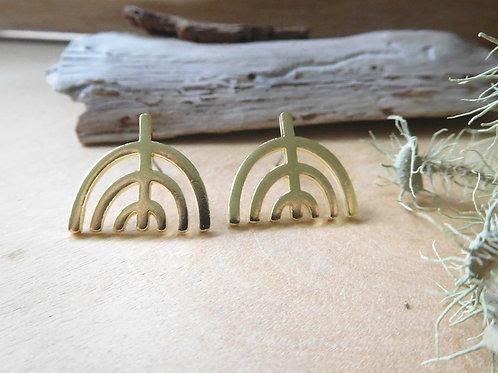 Brass U Shaped Earrings