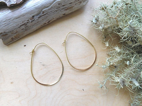 WS Gold Plated Brass Hoop Ear Wires