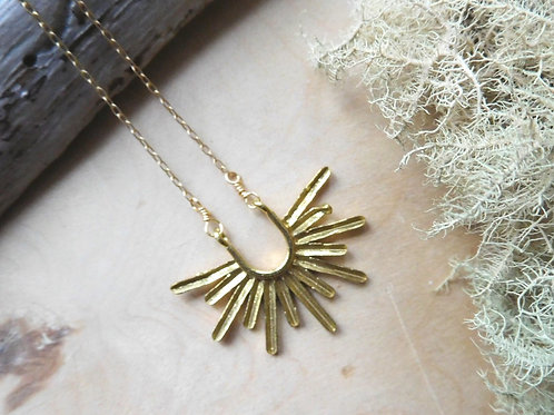 WS Gold sunburst necklace