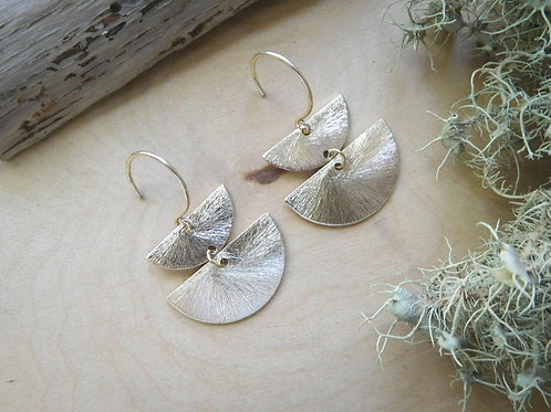WS Two Gold Half Moons Earrings