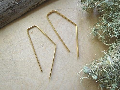 WS Gold Bendy Threader earrings
