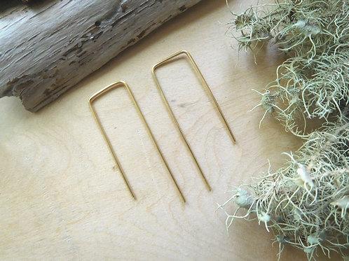 Rectangular Threader Earrings