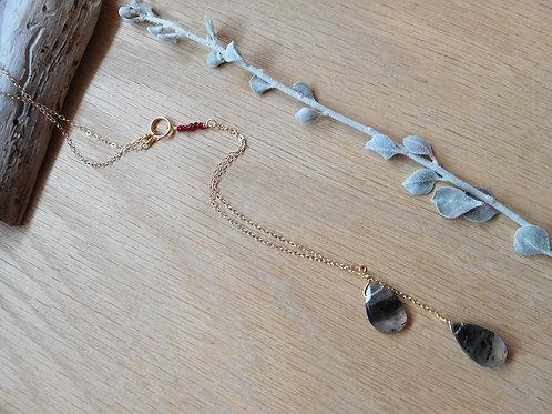 Labradorite teardrops lariat necklace