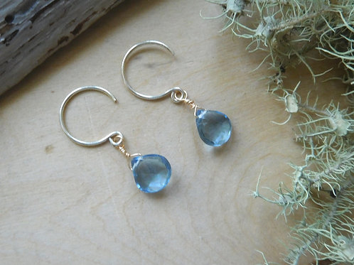 WS Aquamarine teardrop earrings