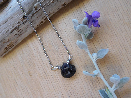 wholesale Black Onyx teardrop necklace
