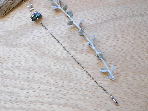 "WS Pyrite and hematite ""y"" necklace"