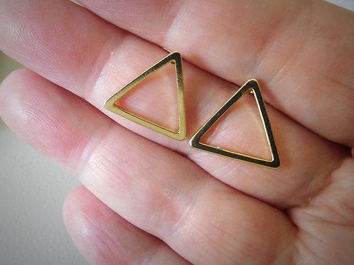 WS Gold Arrow Stud Earrings