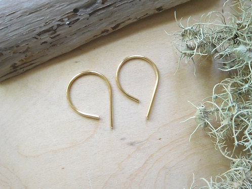 Tiny Hoop Threader Earrings