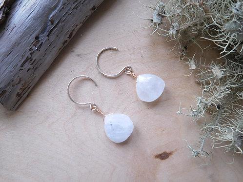 WS Moonstone Teardrop Earrings