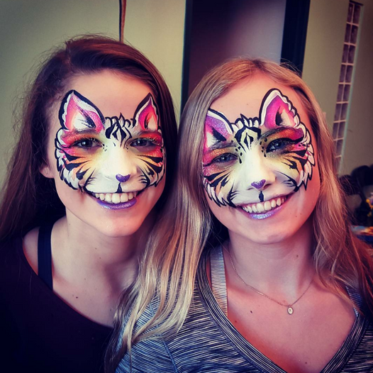 Face Paint - Tiger Twins