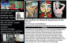 Women's Art Exhibition Invite