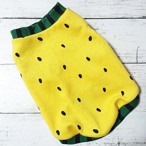 小型犬サイズ・黄色いスイカタンクトップTシャツ