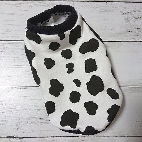 小型犬サイズ・牛柄タンクトップTシャツ