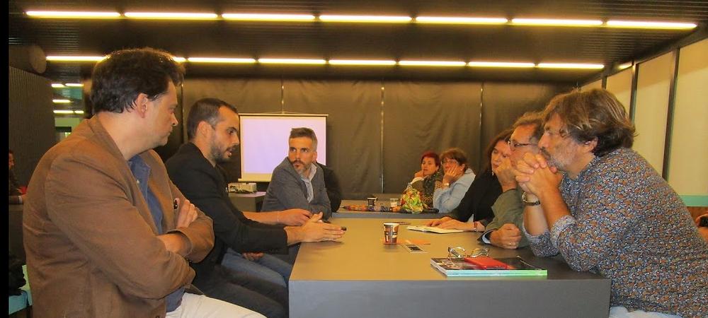 Iñigo Molero, Alfre Mancera, Steve Serra, Covadonga Fernández, Javier Callejo y Enrique Aznar