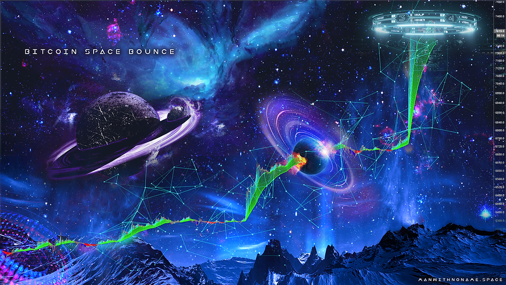 «Bitcoin Space Bounce» (Man With No Name).