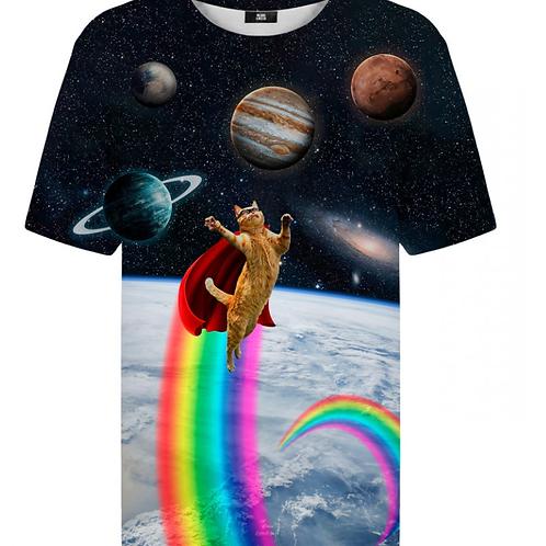 T-shirt Super chat de l'espace
