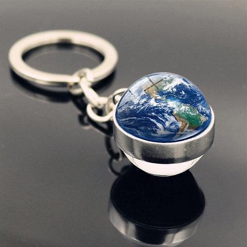 Porte clés Boule Terre
