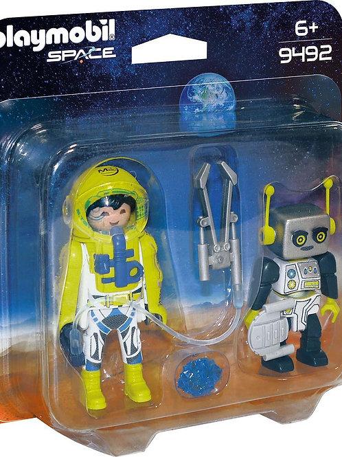 Astronaute avec robot