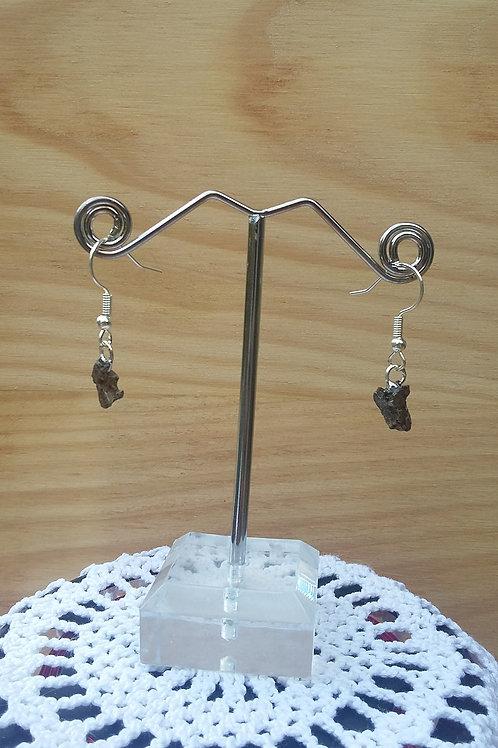 Boucles d'oreilles météorites #5