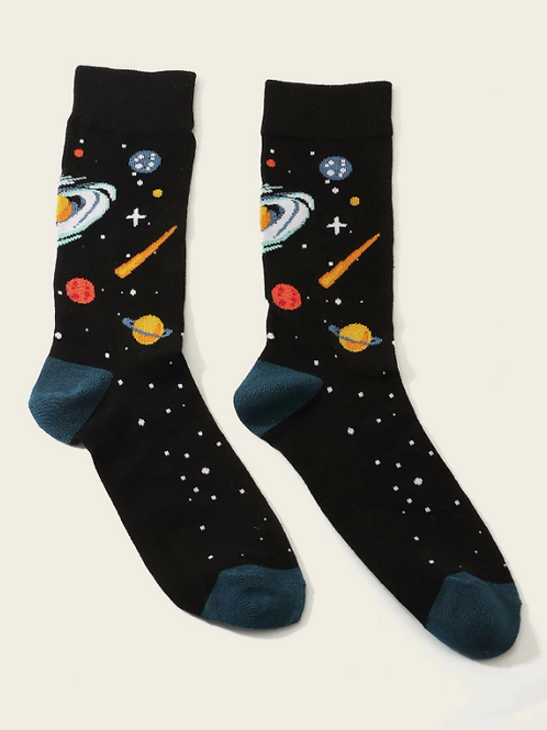Chausette noire planète galaxie