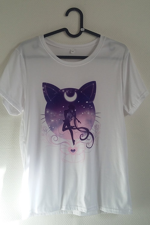 T-shirt Sailor Moon violet