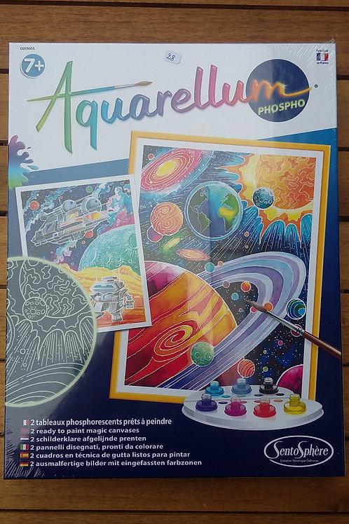 Aquarelle planètes