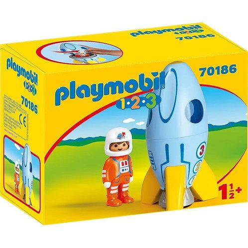 Playmobile kids fusée avec pilote