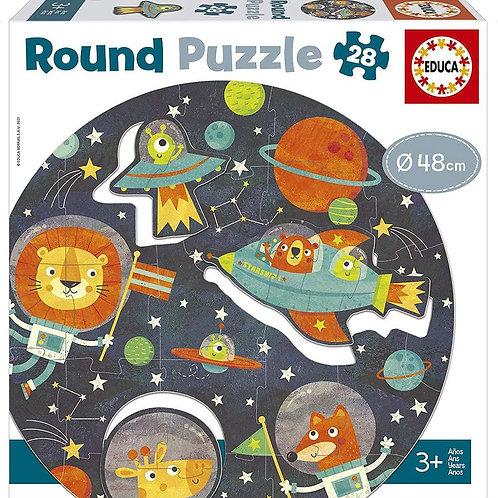 Puzzle rond de l'espace 28 pc