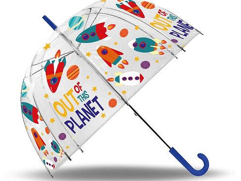 Planets parapluie cloche transparent 70 cm
