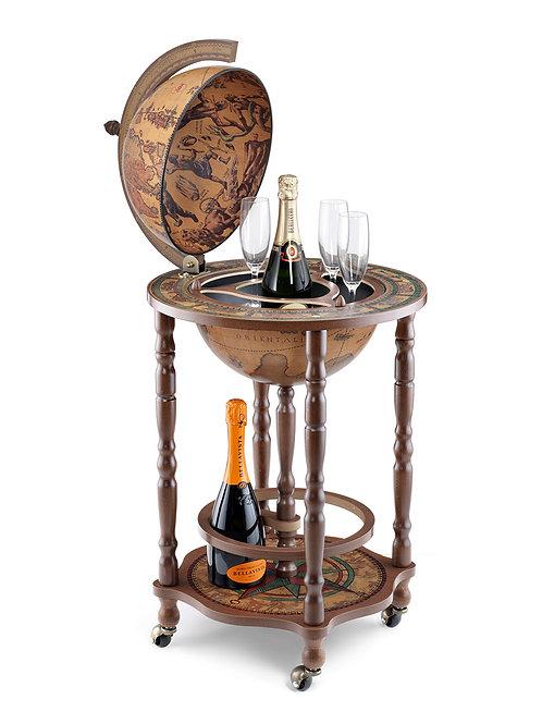 """Globe bar sur roulette """"Crono"""""""