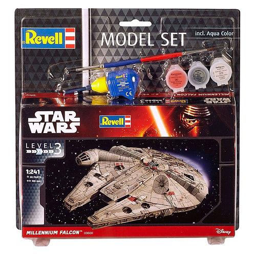 Star Wars maquette 1/241 Model Set Millennium Falcon 10 cm