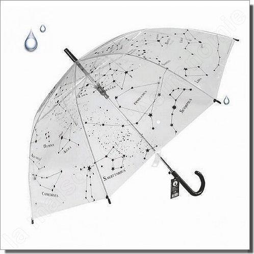 Parapluie transparent des constellations