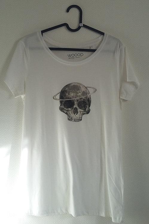 T-shirt tête de mort lunaire