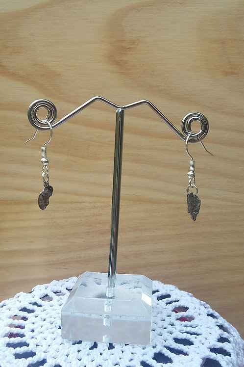 Boucles d'oreilles météorites #3