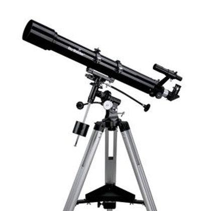 Lunette astronomique 90/900 sur EQ2