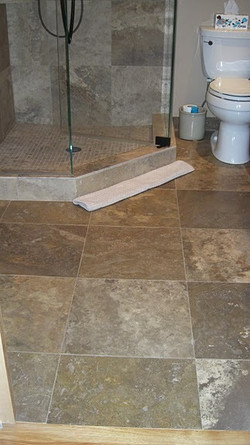 travertine floor color : crater