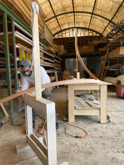 red oak staircase hand rail-3