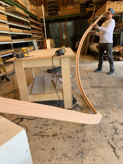 red oak staircase hand rail-1