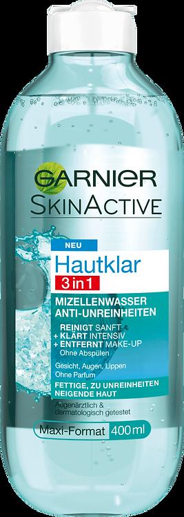 Garnier Skin Clear Micellar Water 3in1, 400 ml