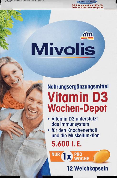 Vitamin D3, 5600 IU Tablets, 12 pcs