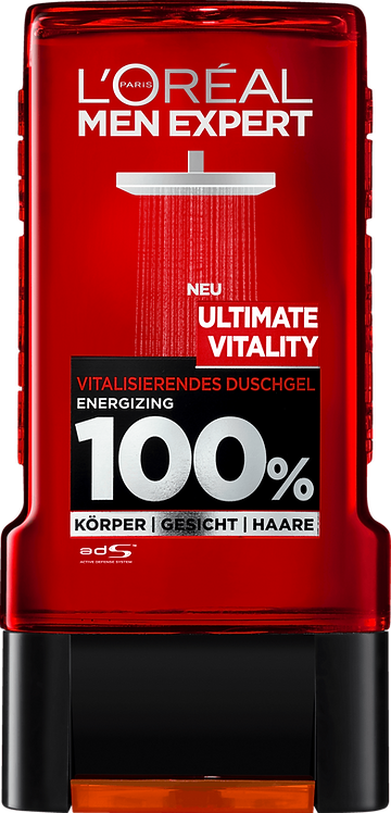 L'ORÉAL Men Expert Shower gel Ultimate Vitality, 300 ml