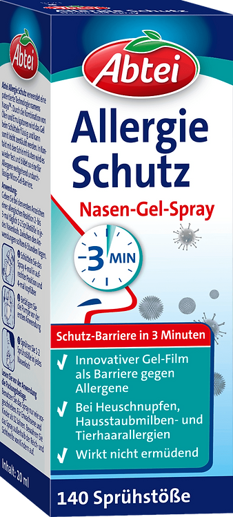 Nasal spray allergy protection nasal gel spray, 20 ml